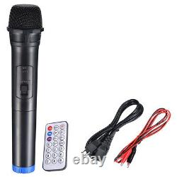 1500W Portable Remote 15 PA Active Speaker Mic Guitar AMP Bluetooth USB SD LCD