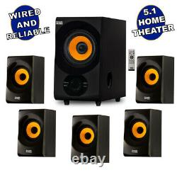 Acoustic Audio Home Theater 5.1 Bluetooth Speaker System with FM Tuner NEW