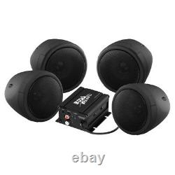 Boss Audio 1000w Bluetooth 4 Speakers+Amplifier Handlebar System Motorcycle/ATV