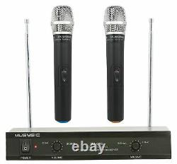 Complete Professional 4500W PA System 8-CH Mixer 2pc 15 Speakers Wireless Mics