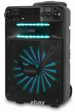 Dolphin 2500W Rechargeable 12 Portable Bluetooth Speaker with LED's SP-1200RBT