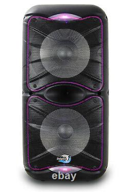 Dolphin SP-212RBT Rechargeable Bluetooth Party Speaker System Dual 12 3600 Watt