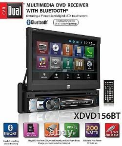 Dual Single DIN Bluetooth Receiver w 7 Flip Out Touchscreen 6.5 + 6x9 Speakers