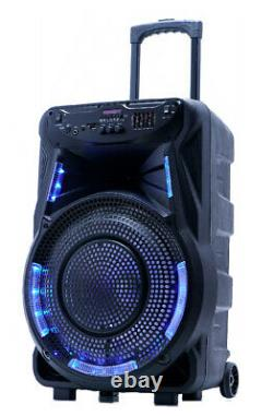 Fully Amplified Portable 4500 Watts 15 Speaker WITH FREE MICROPHONE