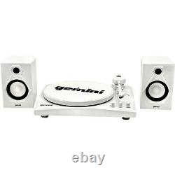 Gemini TT-900WW Record Player With Bluetooth and Dual Stereo Speakers White