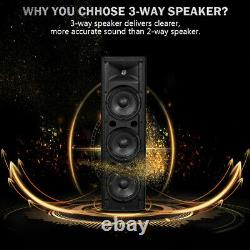 Home Living Room 2000W 2PCS Bi-Amplified Bluetooth Speakers PA System 3-Channel