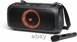 JBL PartyBox On-the-Go Portable Bluetooth Speaker with Wireless Mic