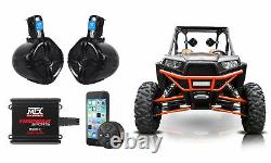 MTX Audio Bluetooth Controller+Tower Speakers+2-Channel Amp for Polaris RZR