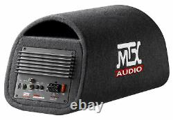 MTX RT8PT 8 240w Powered Subwoofer In Vented/Ported Bass Tube+Bluetooth Speaker