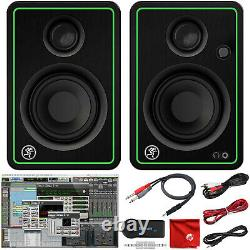 Mackie CR3-X 3 Creative Reference Pro Studio Monitors and Bluetooth Adapter