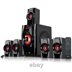New Befree 5.1 Channel Surround Sound Bluetooth Home Theater Speaker System Red