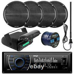 Pyle Bluetooth USB Receiver, 6.5 Speakers and Wiring, Antenna, Radio Housing