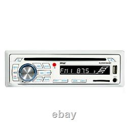 Pyle CD SD Bluetooth Boat Stereo, 4x 5 Marine Speakers, Radio Cover, Antenna