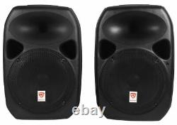 Rockville RPG122K Dual 12 Powered Speakers, Bluetooth+Mic+Speaker Stands+Cables