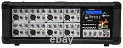 Rockville RPG2X15 Package PA System Mixer/Amp+15 Speakers+Stands+Mics+Bluetooth