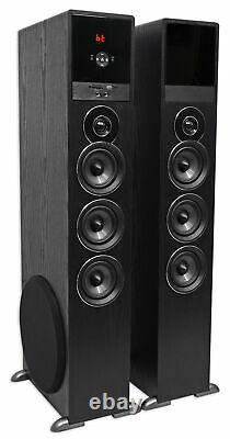Rockville TM150B Black Home Theatre System Tower Speakers 10 Sub/Blueooth/USB