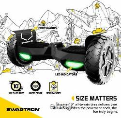 Swagtron T6 Adults Bluetooth Hoverboard Off-Road Electric Self Balancing Scooter