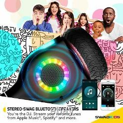 Swagtron Warrior XL Off-Road Hoverboard Bluetooth Speaker Music-Synced LED Wheel