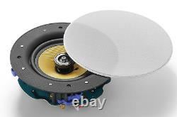 TDX 6.5 2-Way WiFi Wireless In-Ceiling Flush Mount Speakers Magnetic Grill Pair