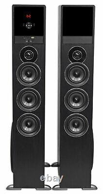 Tower Speaker Home Theater System withSub For Samsung NU6900 Television TV-Black