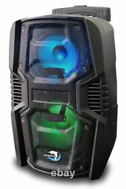 Two Dolphin SP-26RBT Rechargeable Tailgate Bluetooth Speaker Pair with WaveSync